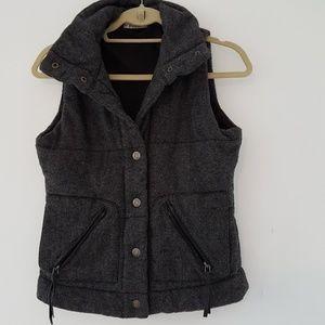 Gray bomber vest size small